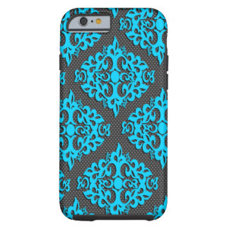 Cool Blue Damask iPhone 6 Case Tough iPhone 6 Case