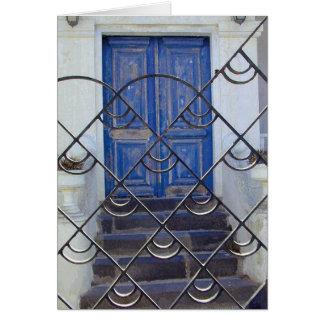 Cool Blue Door Card