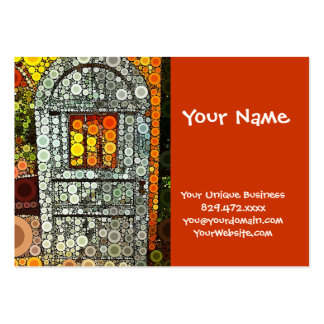 Cool Blue Door Southwestern Courtyard Wooden Door Pack Of Chubby Business Cards