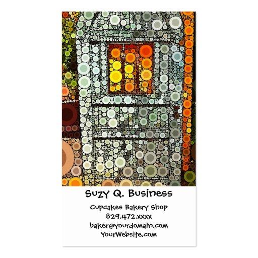 Cool Blue Door Southwestern Courtyard Wooden Door Business Card