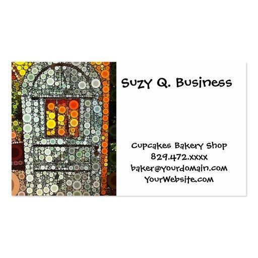 Cool Blue Door Southwestern Courtyard Wooden Door Business Card Templates