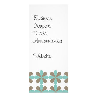 Cool Blue Gray Cris Cross Star Floral Patterns Full Color Rack Card