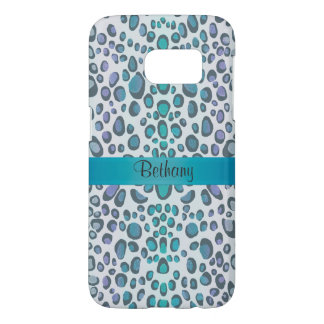 Cool Blue Green Leopard Animal Print