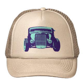 Cool Blue Hot Rod Cap Hat