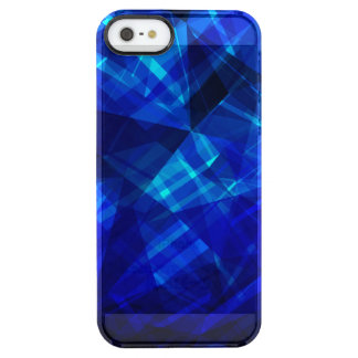 Cool Blue Ice Geometric Pattern Clear iPhone SE/5/5s Case