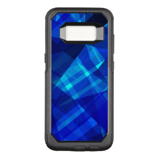 Cool Blue Ice Geometric Pattern OtterBox Commuter Samsung Galaxy S8 Case