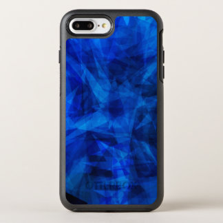 Cool Blue Ice Geometric Shards OtterBox Symmetry iPhone 8 Plus/7 Plus Case