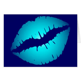Cool Blue Kiss Card