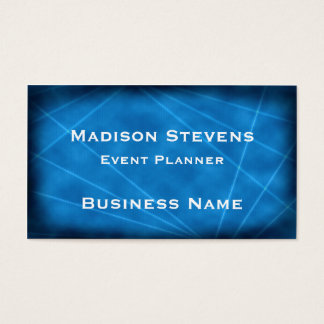 Cool Blue Laser Lights Business Card Template