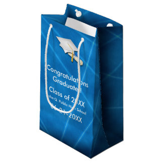 Cool Blue Lazer Light Graduation Gift Bag