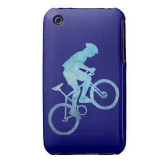 Cool Blue Mountain Biker iPhone 3 Case-Mate Case