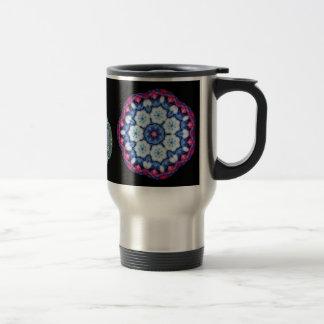 cool blue n pink kaleidoscope travel mug... travel mug