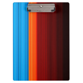 COOL Blue Orange Yellow Red Black Stripes Clipboard
