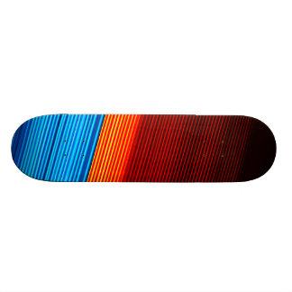 COOL Blue Orange Yellow Red Black Stripes Custom Skateboard