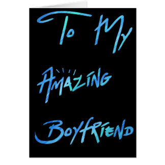 "Cool Blue Paint Look  ""To my Boyfriend"" Card"