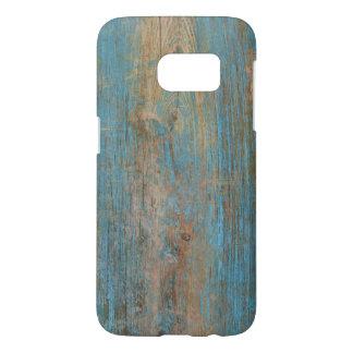 Cool Blue Peeling Paint Rustic Wood Texture