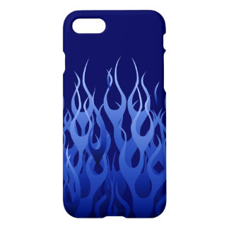 Cool Blue Racing Flames iPhone 8/7 Case