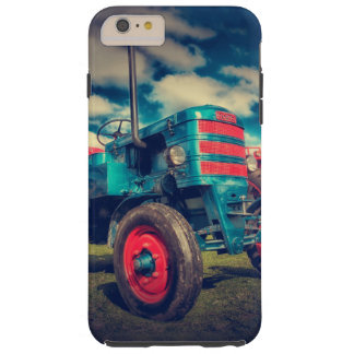 Cool Blue Red Vintage Tractor Tough iPhone 6 Plus Case