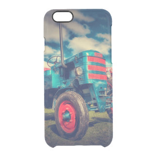 Cool Blue Red Vintage Tractor Uncommon Clearly™ Deflector iPhone 6 Case