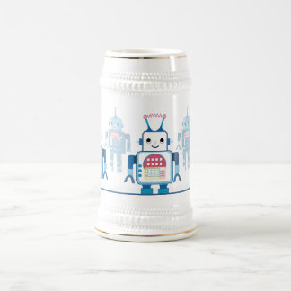 Cool Blue Robot Gifts Novelties Beer Stein