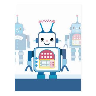 Cool Blue Robot Gifts Novelties Postcards