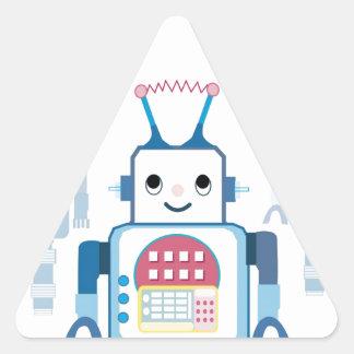 Cool Blue Robot Gifts Novelties Triangle Sticker