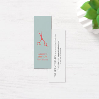 Cool Blue Salmon Hairstylist Appointment Card