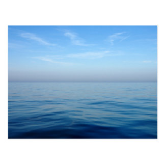 cool blue sea postcard