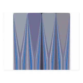 Cool Blue Seamless Design Postcard