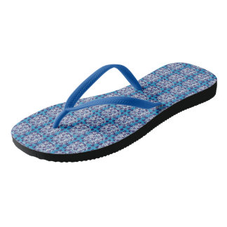 Cool blue skulls and lions for the summer time thongs