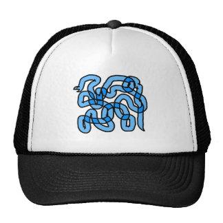 Cool Blue Snake Design Mesh Hats