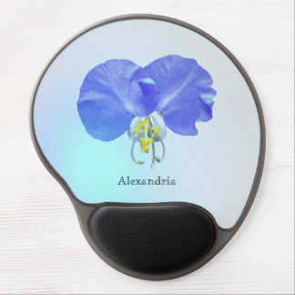 Cool Blue Spring Dayflower Floral Custom Gel Mouse Pad