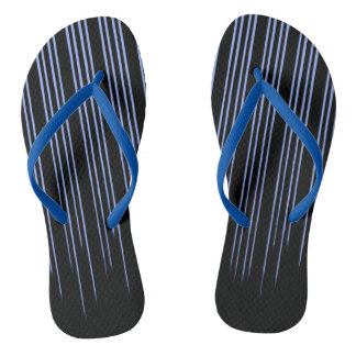Cool Blue Striped Pattern Thongs
