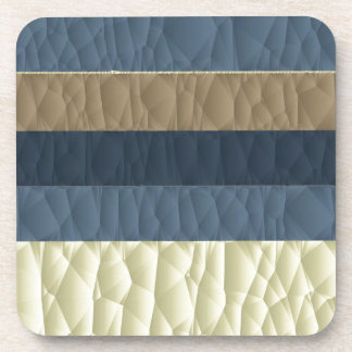 Cool Blue Taupe Color Pallet Quilted Coaster