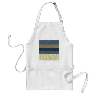 Cool Blue Taupe Colour Pallet Quilted Standard Apron
