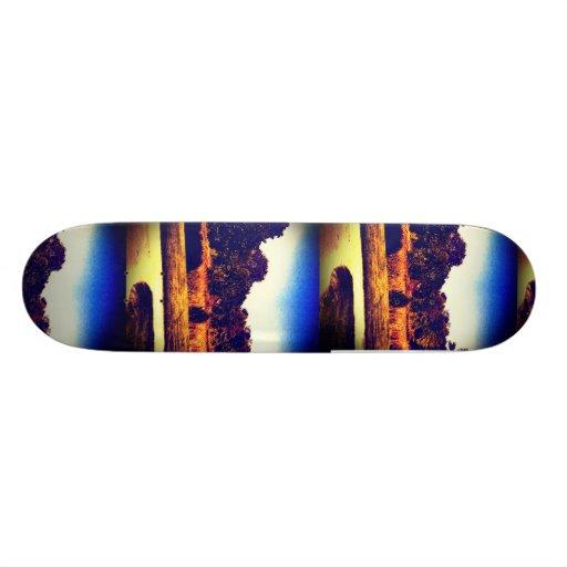 Cool blue trees skateboard