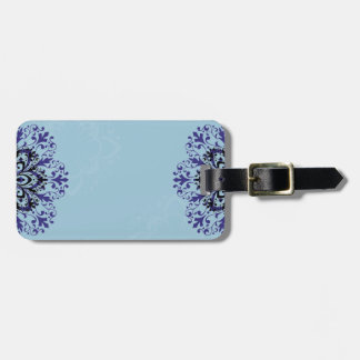 Cool blue vintage luggage tag design