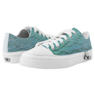 Cool blue water printed shoes