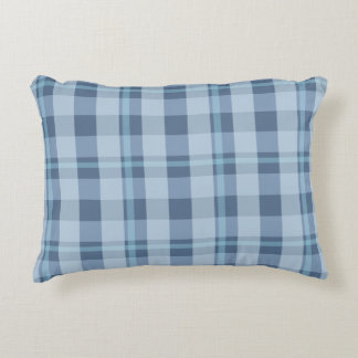Cool Blue Waters Plaid 12x16in Pillow