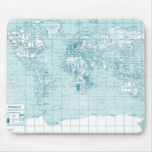 Cool Blue World - collection Mouse Pad