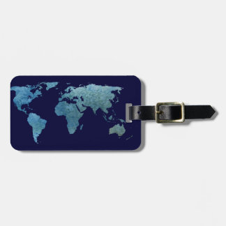 Cool Blue World Luggage Tag