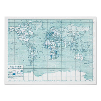 World map posters from Zazzle
