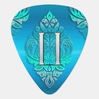 Cool Blue Zodiac Sign Gemini Tribal Guitar Pick
