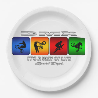 Cool BMX It Is A Way Of Life Paper Plate