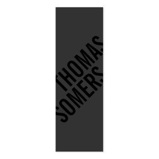 Cool BOLD Black Unique Modern Designer Pack Of Skinny Business Cards