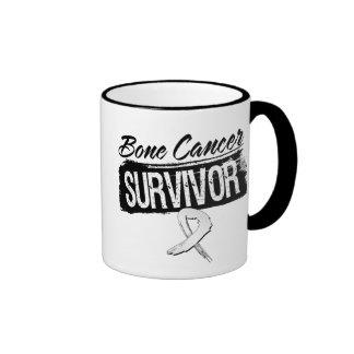 Cool Bone Cancer Survivor Ringer Coffee Mug