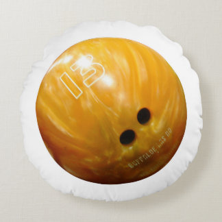 Cool Bowling Ball Bowler Round Pillow