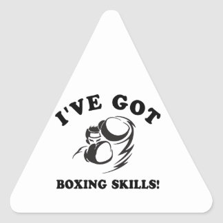 cool boxing designs triangle sticker