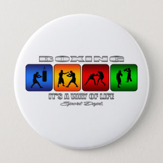 Cool Boxing It Is A Way Of Life 10 Cm Round Badge
