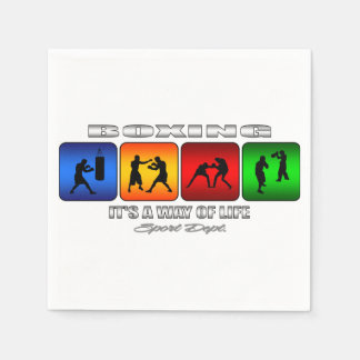 Cool Boxing It Is A Way Of Life Disposable Serviettes